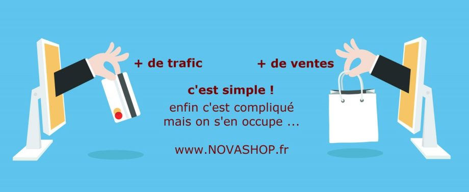 novashop, webdesign UX et e.commerce